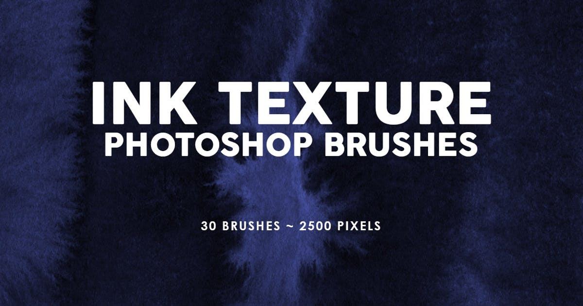 Download 30 Ink Texture Photoshop Brushes Vol. 2 by M-e-f