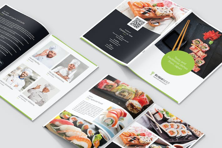 Thumbnail for Mini Brochure – Sushi Restaurant A5