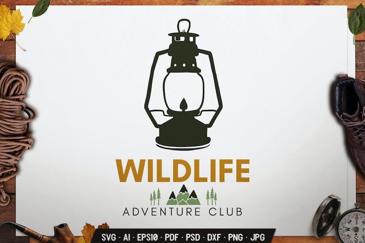 Thumbnail for Wildlife Logo Adventure Badge Vector Retro Graphic