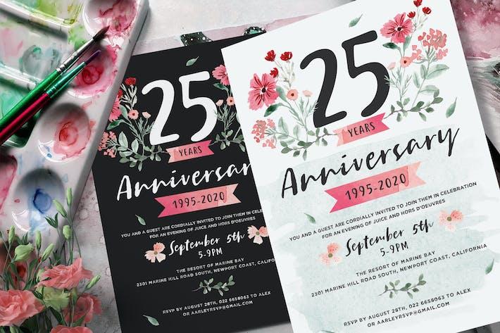 Thumbnail for Flower Anniversary Invitation