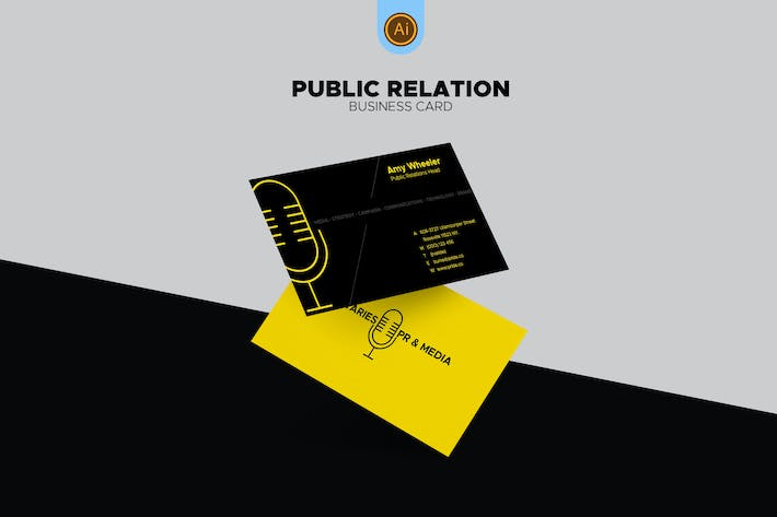 Thumbnail for Public Relations Business Card 02
