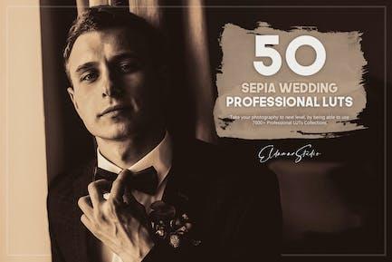 50 Sepia Wedding LUTs Pack