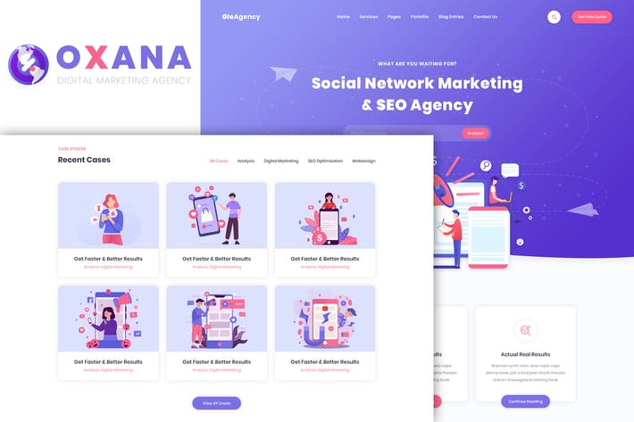 Thumbnail for Oxana - SEO & Digital Marketing HTML Template