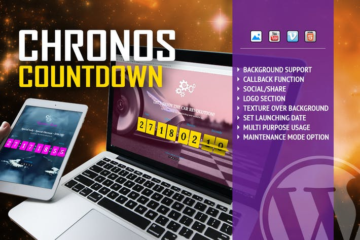 Cover Image For Chronos CountDown - Flip Timer With Background