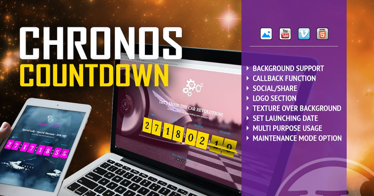 Download Chronos CountDown - Flip Timer With Background by LambertGroup