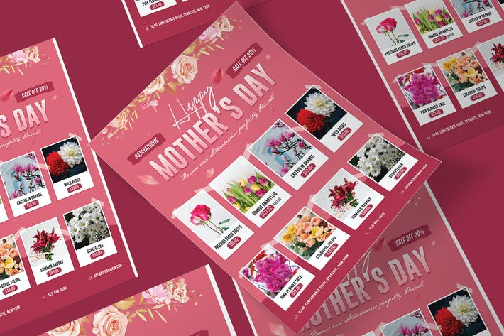 Thumbnail for Mother's Day Supermarket poster PSD template