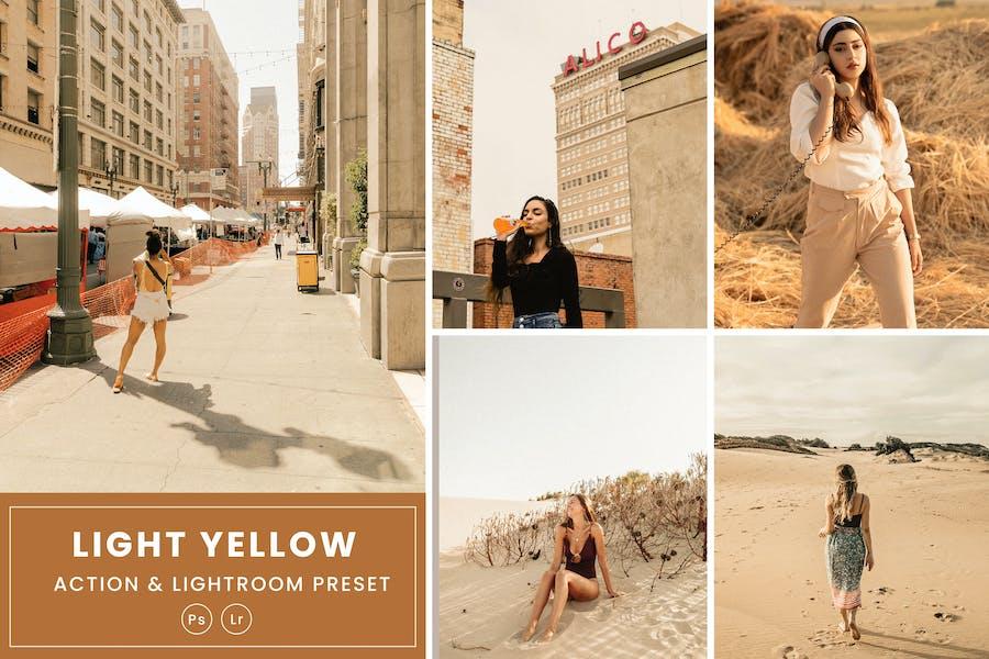 Light Yellow Action & Lightrom Presets