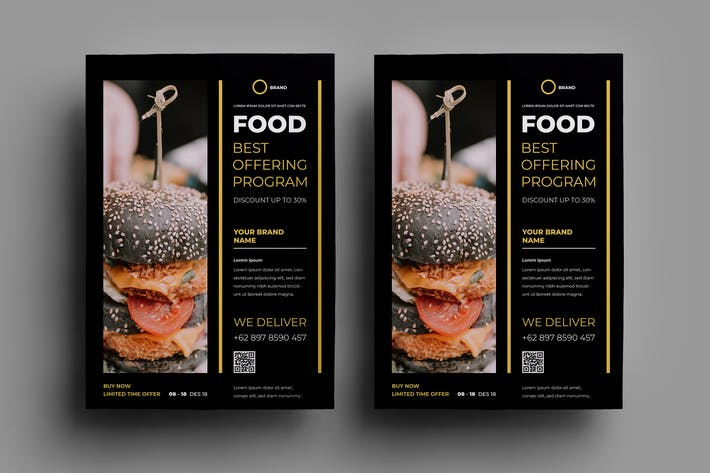 Thumbnail for Fast Food Flyer Design.23