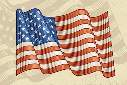 Vintage Flagge der USA