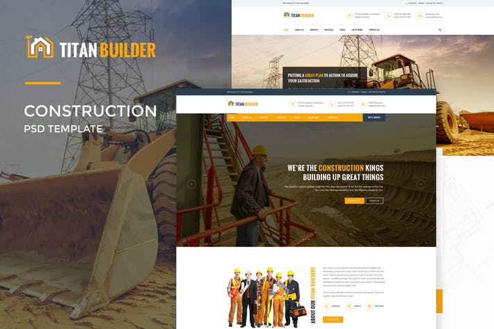 Thumbnail for Titan Builders : Construction Web Template