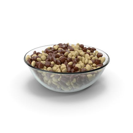 Round Bowl with Almond Mixed Chocolate Candy