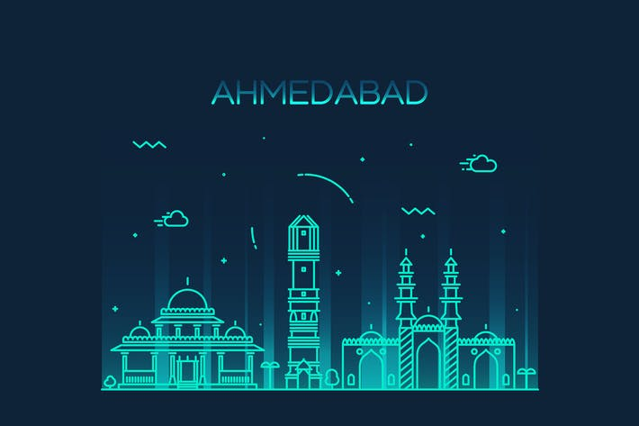 Thumbnail for Ahmedabad skyline, India