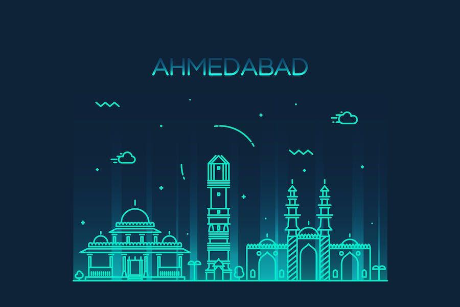 Ahmedabad skyline, India