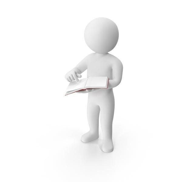 Stickman Holding Book