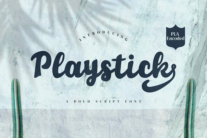 Thumbnail for Playstick - Fuente de script en negrita