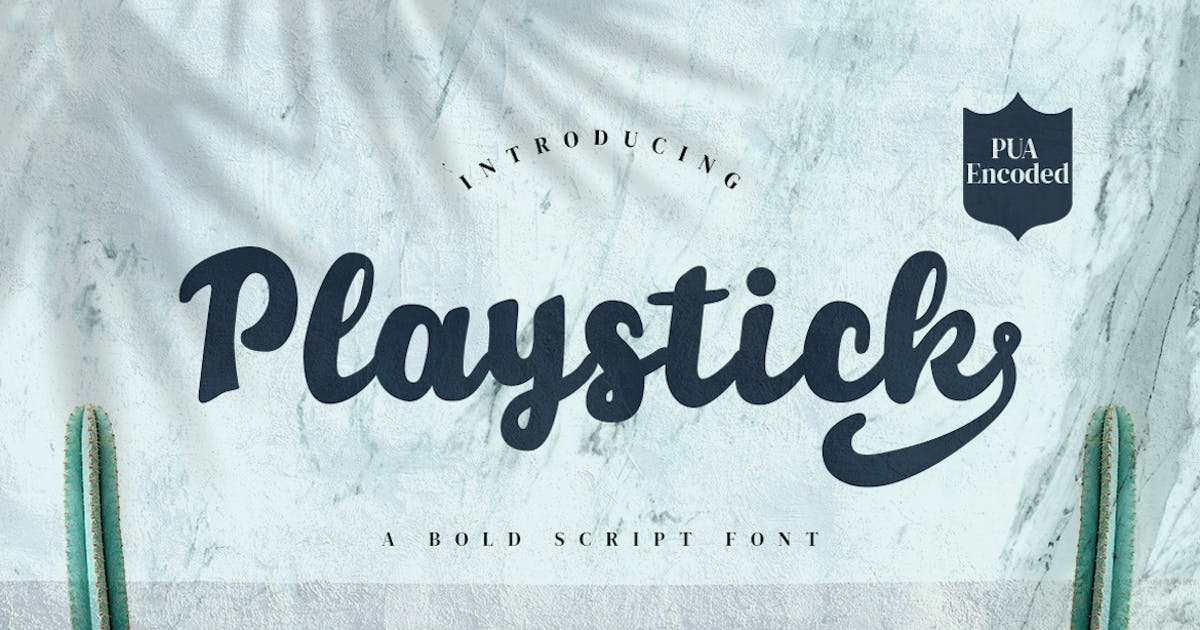 Download Playstick - Bold Script Font by CocoTemplates