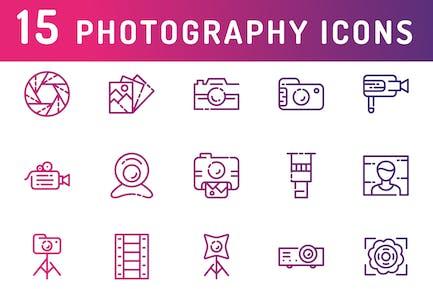Íconos de Fotografía y Medios de comunicación