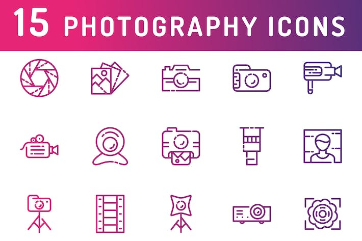 Cover Image For Photography and Media Icons
