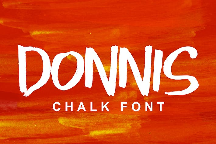 Thumbnail for Donnis Chalk Font