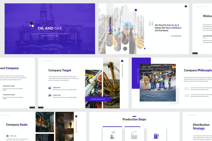 Thumbnail for Oil and Gas Google Slides Template