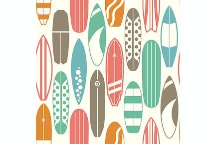 Surfboards Vintage Pattern