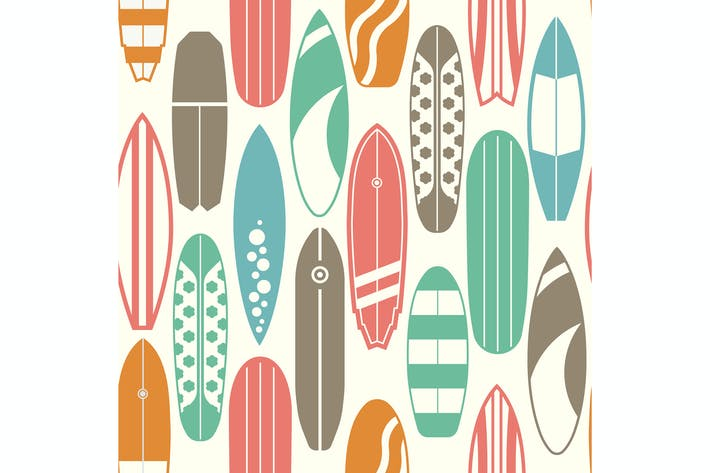 Thumbnail for Surfboards Vintage Pattern
