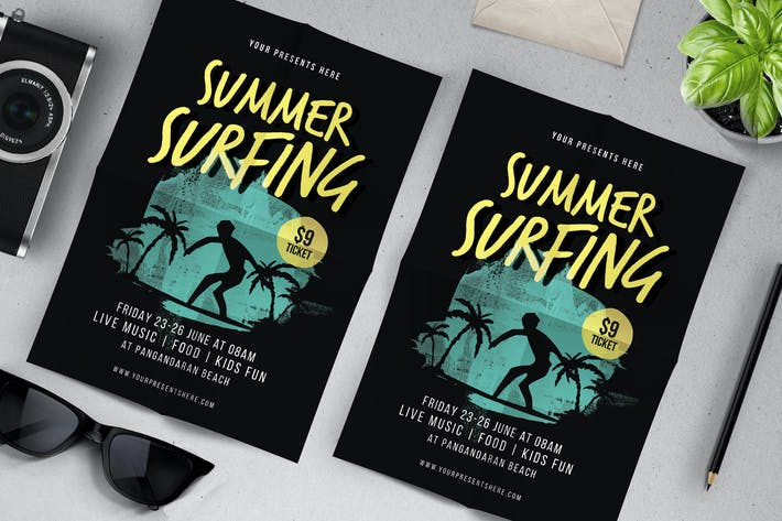 Thumbnail for Summer Surfing Flyer