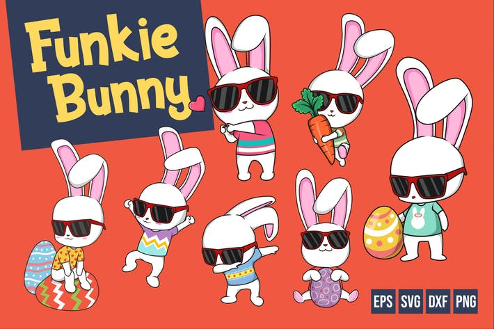 Thumbnail for Funkie Bunny Vector
