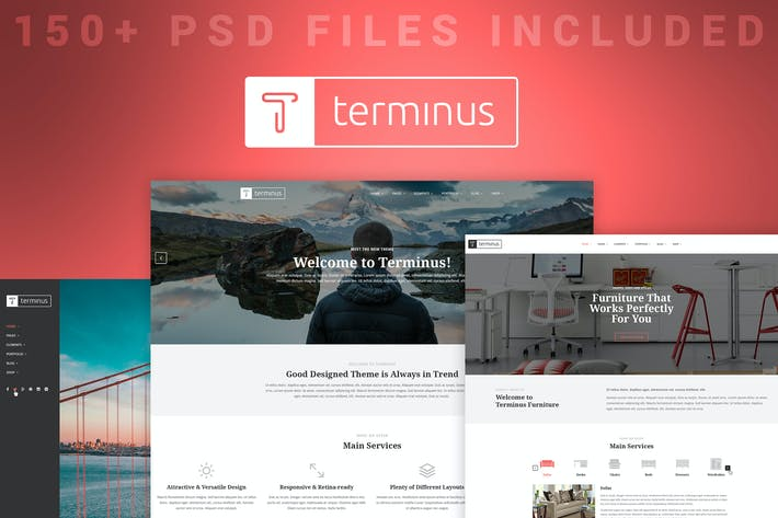 Thumbnail for Terminus - Multi-Purpose PSD Template