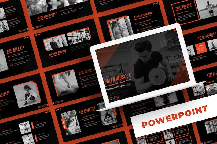 Thumbnail for Build Muscle - Powerpoint Template