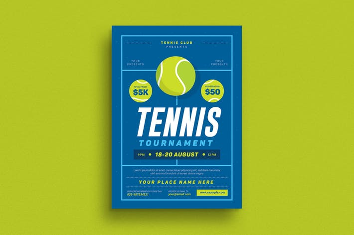 Thumbnail for Tennis Tournament Event Flyer