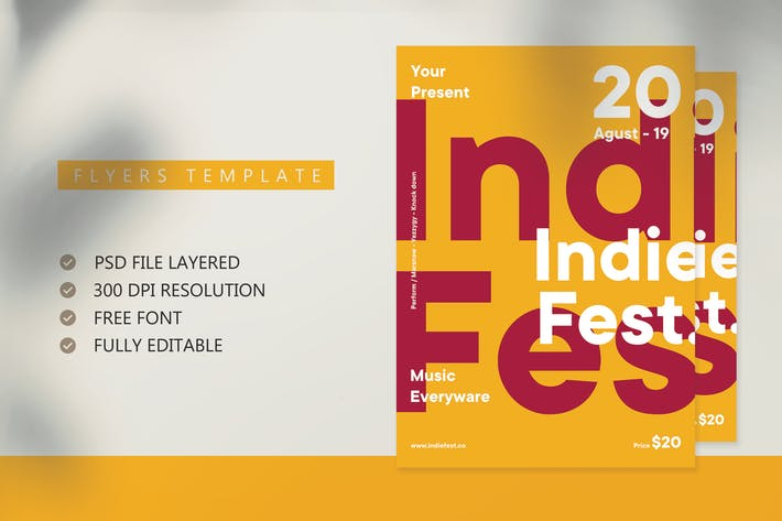 Thumbnail for Indie Fest Flyer Template