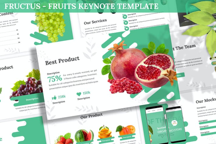 Thumbnail for Fructus - Fruits Keynote Template