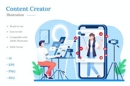 Darstellung des Inhalts-Erstell
