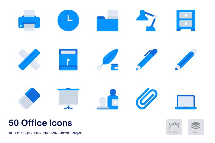 Thumbnail for Office Accent Duo Tone Flat Icons