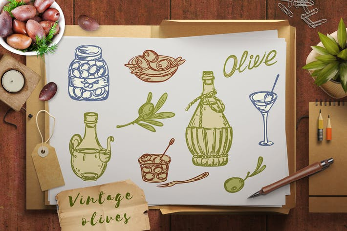 Vintage Olives and Olive Oil
