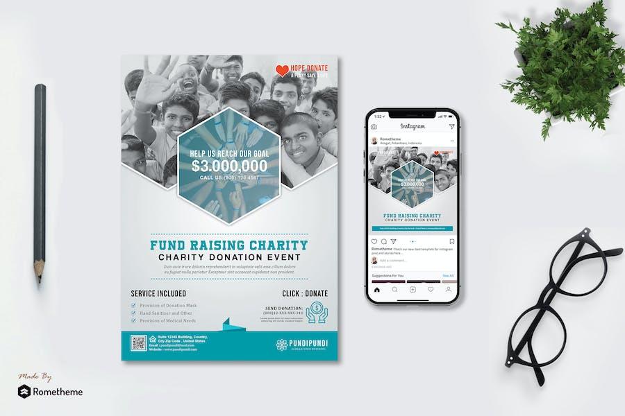 Pundi - Donation Flyer and Instagram Post HR