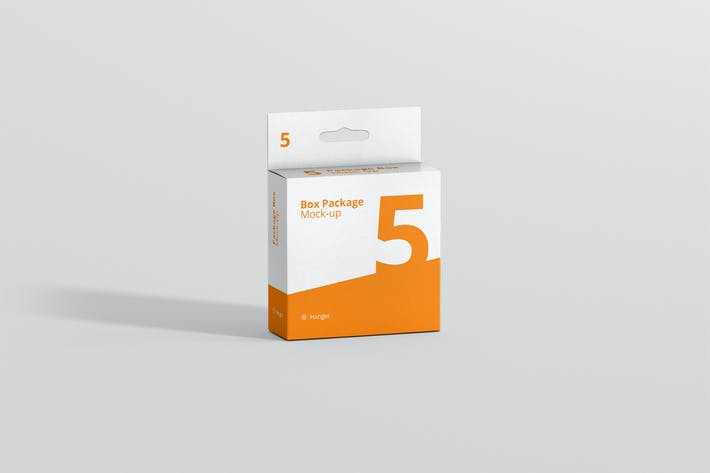 Thumbnail for Package Box Mockup - Flat Square with Hanger