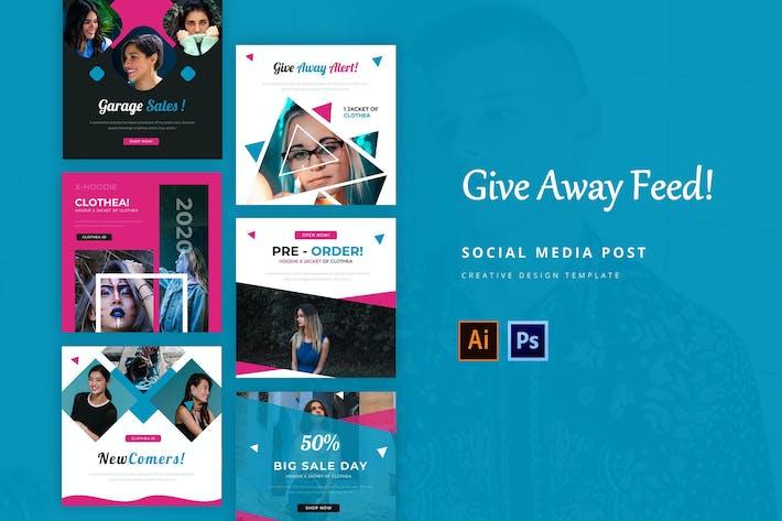 Thumbnail for Give Away Social Media Post Modelo