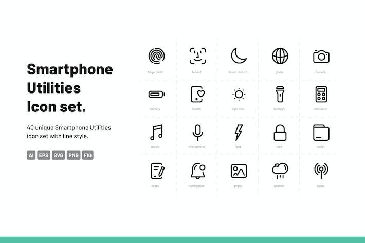 Thumbnail for Conjunto de iconos de utilidades para