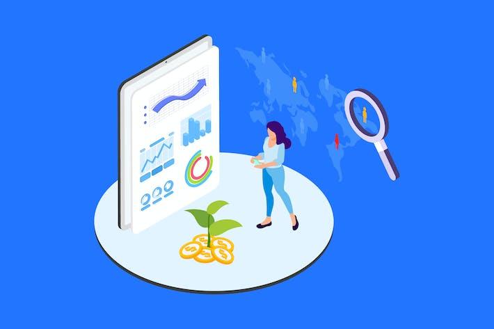 Thumbnail for Capital Mobilization Isometric Illustration - TU