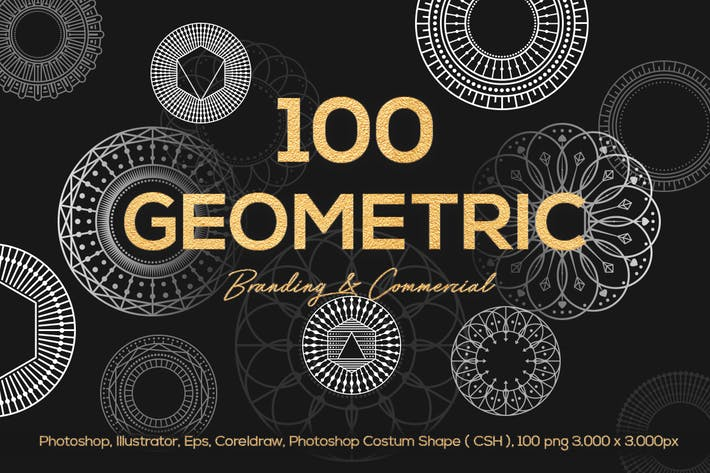 Thumbnail for 100 Geometric Vector Shapes CSH