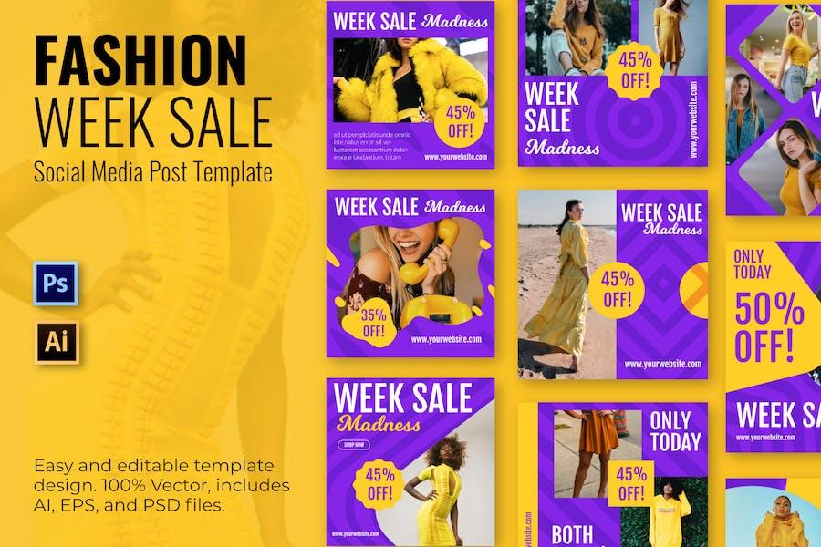 Fashion Week Social Media Posts