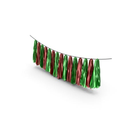 Green and Red Tassel Garland