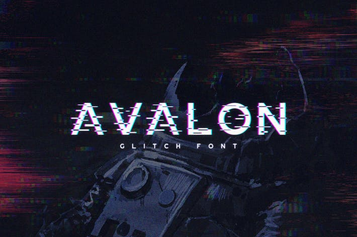 Thumbnail for Avalon - Glitch Font