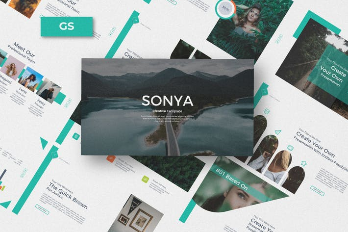 Thumbnail for Sonya Business Creative Google Slide