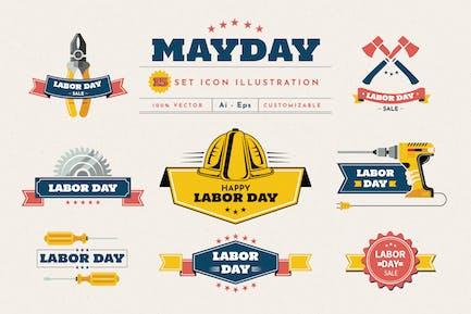 May Day Illustration Set