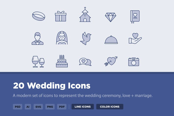 Thumbnail for 20 Wedding Icons