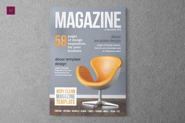 Thumbnail for UNIVERSEL - Modèle de magazine Indesign