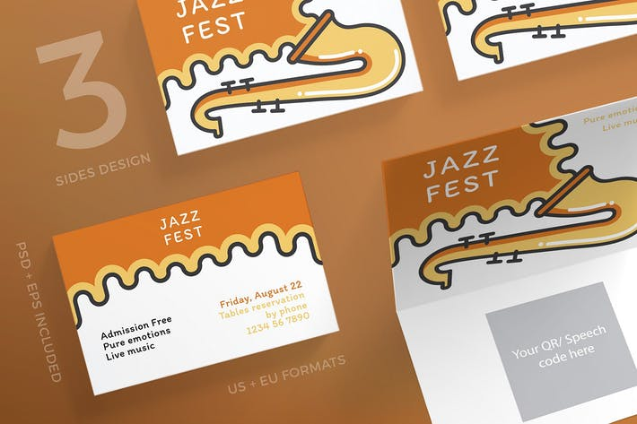 Thumbnail for Jazz Festival Business Card Template